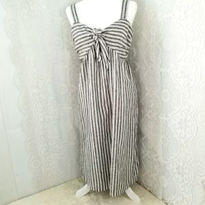 Who What Wear Grey and White Striped Dress